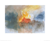 The Burning of the Houses of Parliament, c.1834 Prints by William Turner