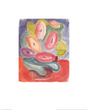Abstract Pink and Green Flowers, c.1914-15 Prints by A. Jawlensky