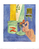 Red Fish and Sculpture, c.1912 Prints by Henri Matisse