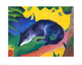 Blue Fox, c.1911 Posters van Franz Marc