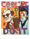 Untitled , Heavy Burschi with Warhol, c.1989-90 Affiches par Martin Kippenberger