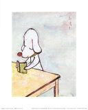 Nicht stören!|Do Not Disturb!, ca. 1996 Kunstdruck von Yoshitomo Nara