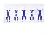 Untitled, Anthropometry, c.1960 (ANT100) Posters by Yves Klein