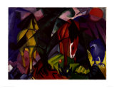 Horses and Eagle, c.1912 Prints by Franz Marc