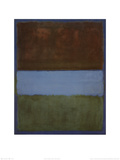 N° 61 (Marron, bleu, marron sur bleu)|No. 61 (Brown, Blue, Brown on Blue), vers 1953 Posters par Mark Rothko