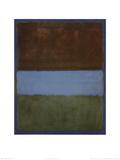 ナンバー 61 (茶、青、青に茶) 1953年 (No. 61) ポスター : マーク・ロスコ