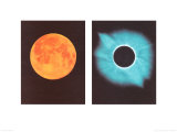 Full Moon/Total Solar Eclipse, July 11, 1991 Posters by Shigemi Numazawa