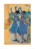 Two Chorus Girls, c.1900 Art by Edgar Degas