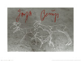 Painting on the Floor, Herzogstrasse 79, c.1982 Art par Joseph Beuys