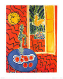 Red Interior, Still Life on Blue Table, c.1947 Posters par Henri Matisse