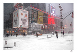Blizzard on Times Square, 2006 Poster by Igor Maloratsky