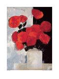 Ramo de Rosas Rojas en un Florero Blanco Lámina por Paul Donaghy