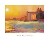 Sunset over Zattere Prints by Cecil Rice