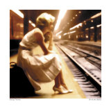 Girl at the Station Poster von George Thomas