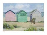 Chozas en la playa Lámina por Jane Hewlett