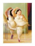 Ballerina an der Stange Kunstdruck von Fernando Botero