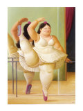 Ballerina to the Handrail Poster by Fernando Botero