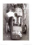 Ferrari-Mechaniker, Großer Preis von Frankreich, 1954 Poster von Jesse Alexander