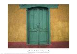 Turquoise Lintel, San Juan Ostuncalco, Guatemala Prints by Jeffrey Becom