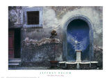 Blue Alcove, Orvieto, Italy Posters by Jeffrey Becom