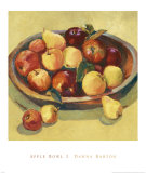 Apple Bowl I Posters by Dawna Barton