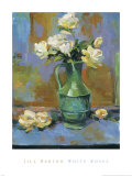 White Roses Art by Jill Barton