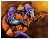 Blues Time Poster par Philemon Reid