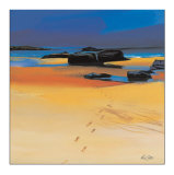 Footsteps and Orange Sands Collectable Print by Pam Carter