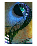 Currituck Light stairs 1 Photographic Print by Frank Tozier