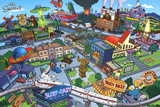 The Simpsons- Springfield Map Photo