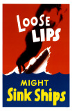 Loose Lips Sink Ships Masterprint