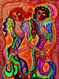 Gypsy Dance Art by B. Ingrid