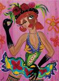 Pink Rosita Poster by B. Ingrid