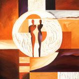 Kreis der Liebe I Kunstdrucke von Alfred Gockel