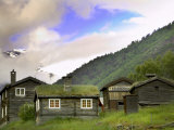 Homestead from Lom across Mt. Sognefjellet, Norway Premium Photographic Print by Russell Young