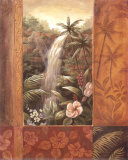 Tropical Waterfall II Print by Vivian Flasch