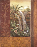 Tropical Waterfall I Prints by Vivian Flasch