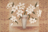 White Lilies Poster by Jane Carroll