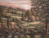 Evening in Tuscany I Art by Betsy Brown