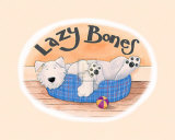 Lazy Bones Poster by Kate Mawdsley