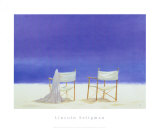 Canvas Chairs on Beach Prints by Lincoln Seligman