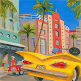 Cruz n' Miami Print by Karen Dupré