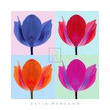Tulip Quadrant II Art by Katja Marzahn
