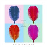 Tulip Quadrant Poster by Katja Marzahn