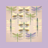 Floating Dragonflies II Art by Katja Marzahn