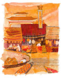 Waterside Lanterns Poster by Liz Myhill