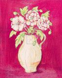 Les Fleurs Rose II Prints by Nicola Corrigan