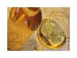 White Wine Grape Affiche par Teo Tarras