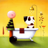 L'heure du bain Art par Jo Parry