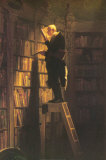 The Bookworm Prints by Carl Spitzweg